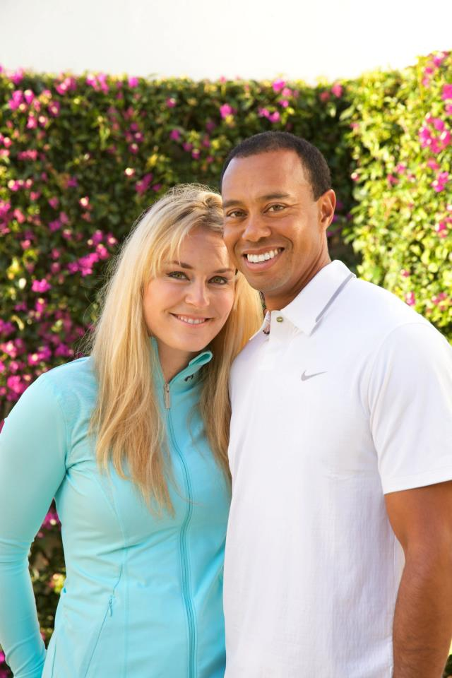 Tiger Woods Lindsey Vonn Facebook 1